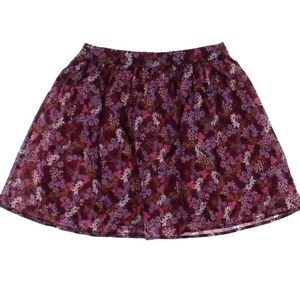 Lily White Floral Skirt Size M